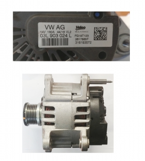 Alternator 180A 14V Valeo 03L903024L OE
