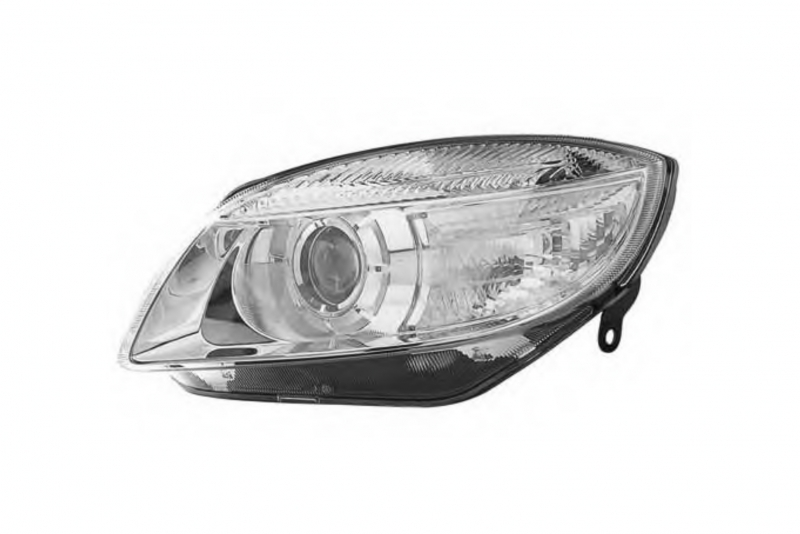 Světlomet, světlo přední levé Fabia II, Roomster H7 5J1941017A D+