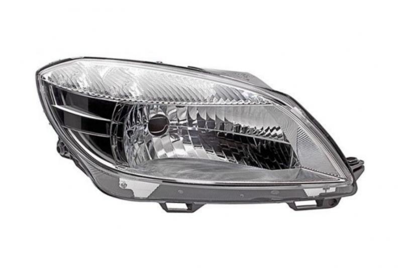 Světlomet, světlo přední pravé H4 Škoda Fabia II, Roomster 5J1941018C D+