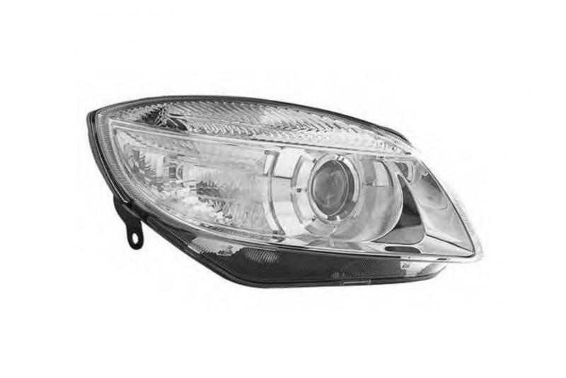 Světlomet, světlo přední pravé Škoda Fabia II, Roomster H7 5J1941018A D+